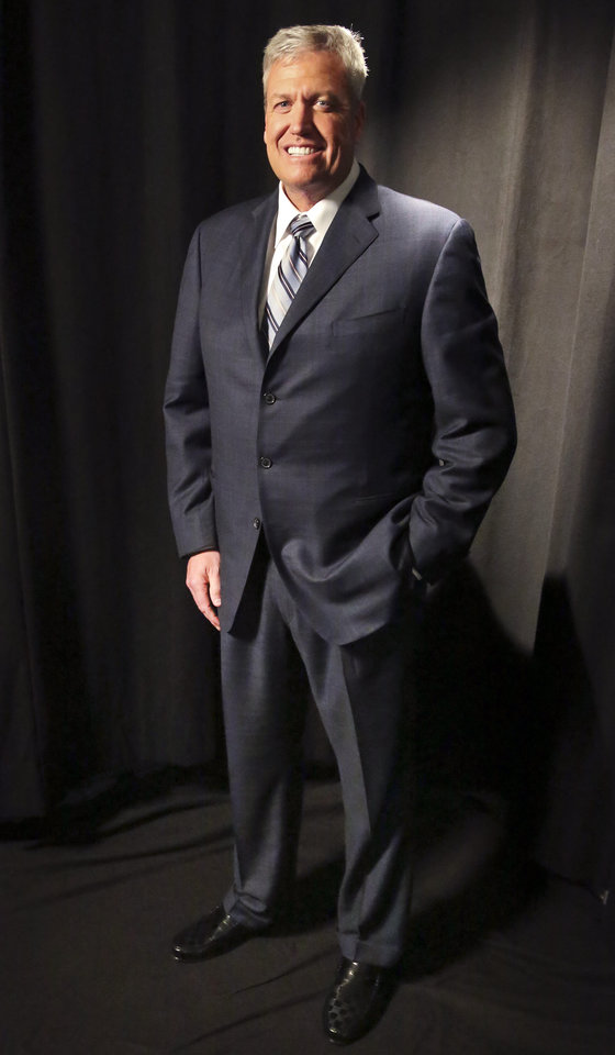 New York Jets head coach Rex Ryan poses for a photograph, highlighting losing 115 pounds, after an interview on Friday, May 3, 2013 in New York.  (AP Photo/Bebeto Matthews)