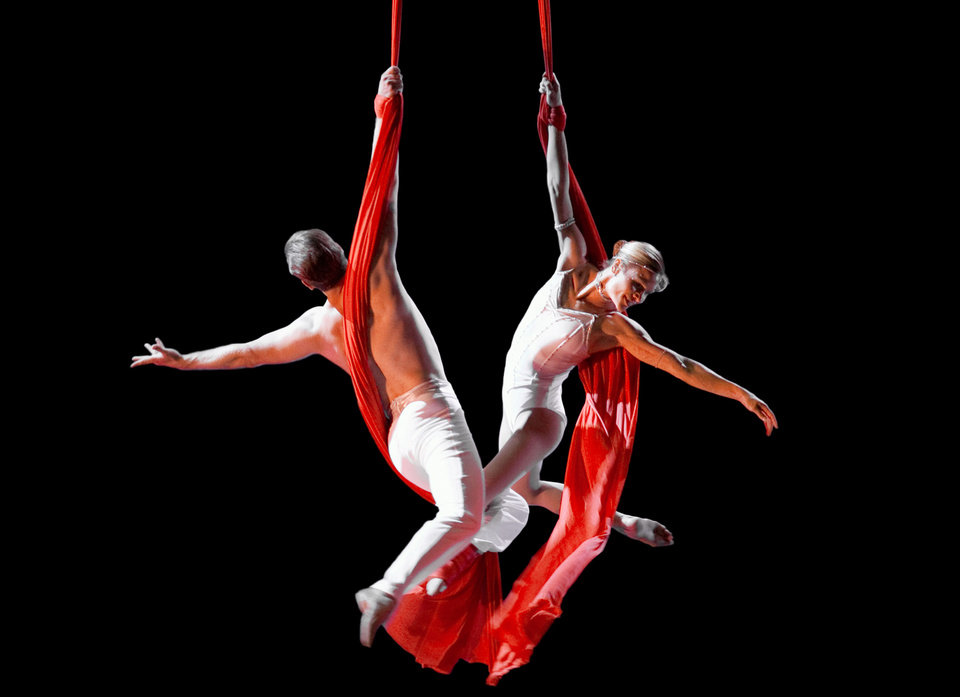 Aerialists Alexander Streltsov and  Christine Van Loo. Photo provided
