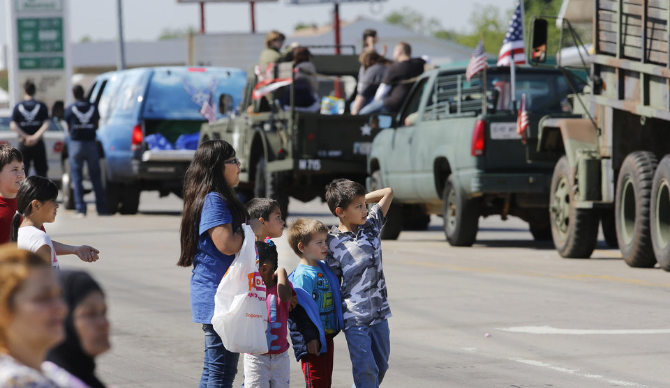 Armed Forces Day parade in Del City, Saturday morning, May 11, 2013. Photo by Jim Beckel, The Oklahoman.