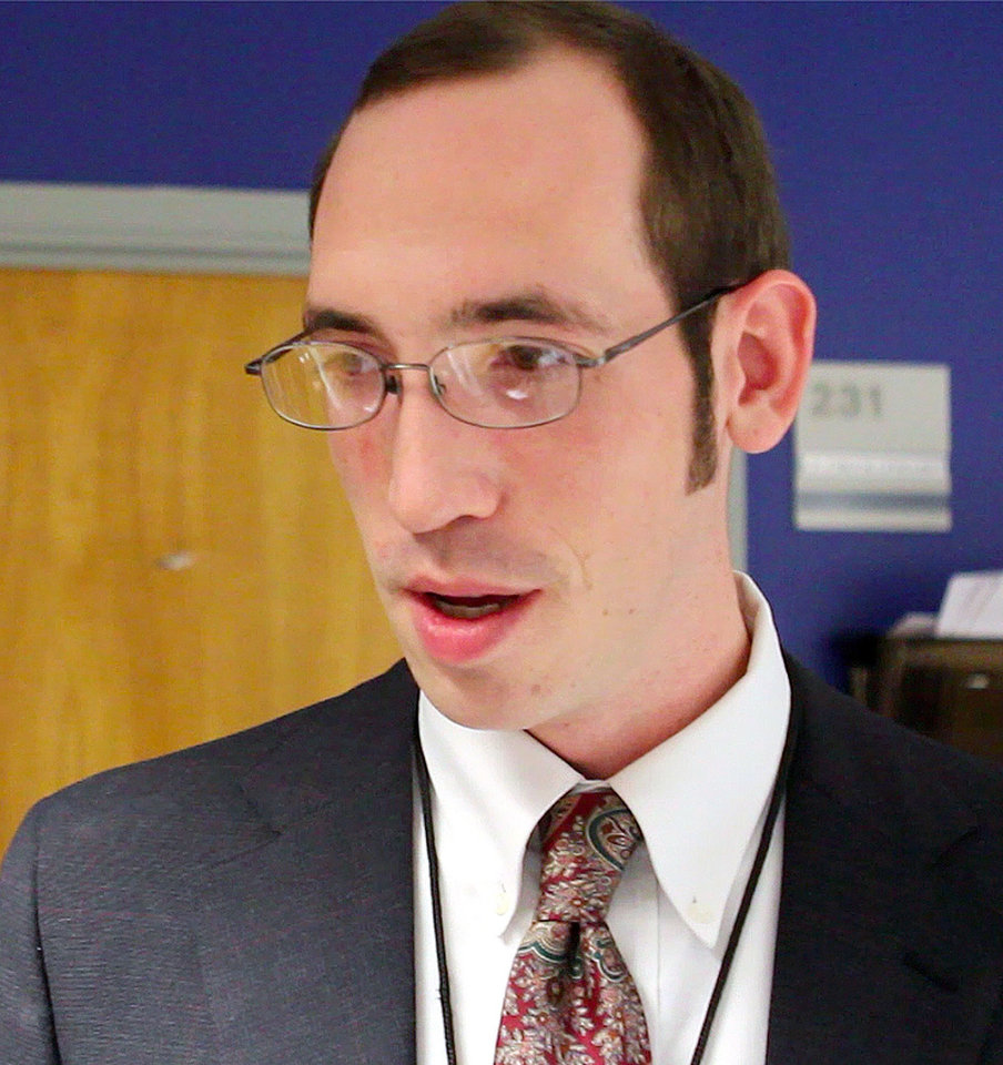 Daniel Becannan, who informed police about a murder-for-hire solicitation, talks about the experience at the Edmond Police Station in Edmond, OK, Friday, Jan. 27, 2012. By Paul Hellstern, The Oklahoman