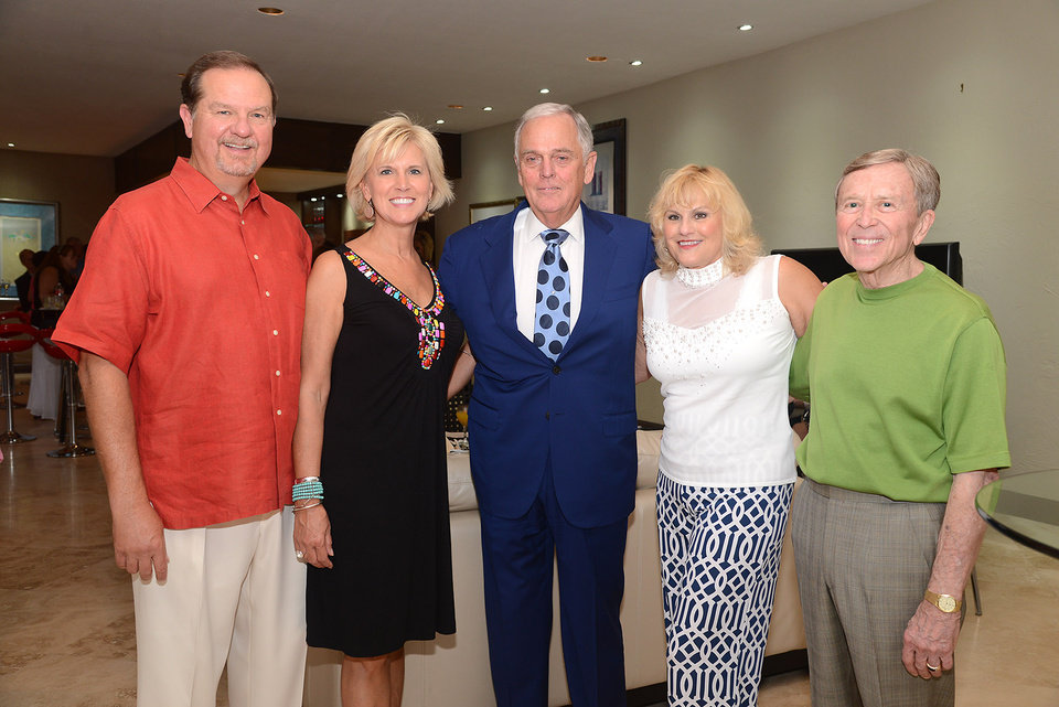Photo -  Bruce and Donna Lawrence, Jim Daniel, Charlotte and Jerry Hess. Photos by David Faytinger, for The Oklahoman