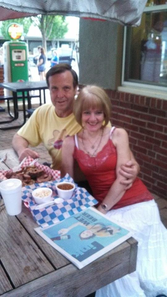 Photo -       Pat Dougherty and his fiance, Julie Connor. She told him he's not obligated to attend her family events if he feels he's not treated well.