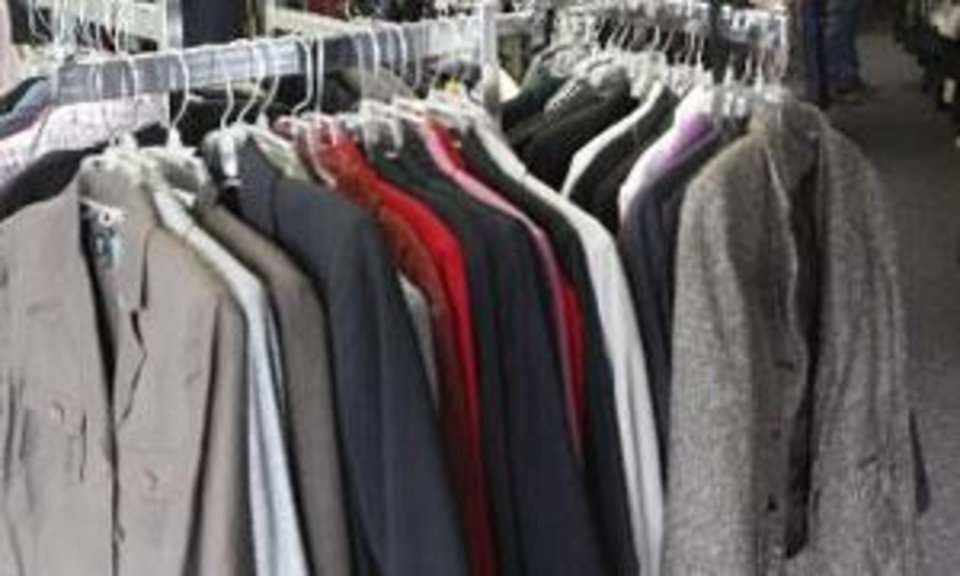 Clothes are seen at Our Sisters' Closet in this file photo.