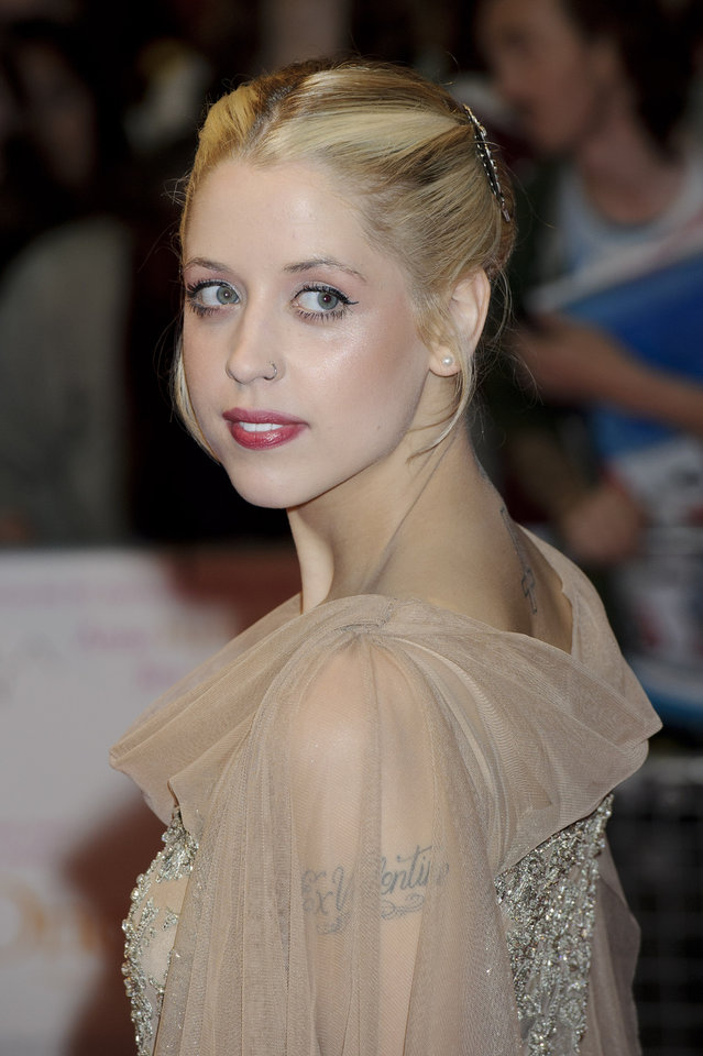 Photo - FILE - In this Tuesday, Aug. 23, 2011, file photo, British personality Peaches Geldof arrives for the European premiere of One Day at a central London venue. Entertainer Bob Geldof's agent said on Monday, April 7, 2014,  his 25-year-old daughter Peaches has died. (AP Photo/Jonathan Short, File)