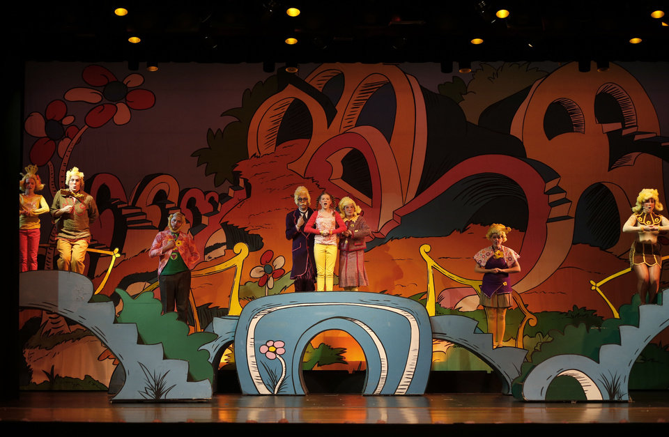 "The cast from ""Seussical"" goes through a dress rehearsal for the Oklahoma Christian University Music and Theater Department's presentation. Photo by Bryan Terry, The Oklahoman <strong>BRYAN TERRY - THE OKLAHOMAN</strong>"