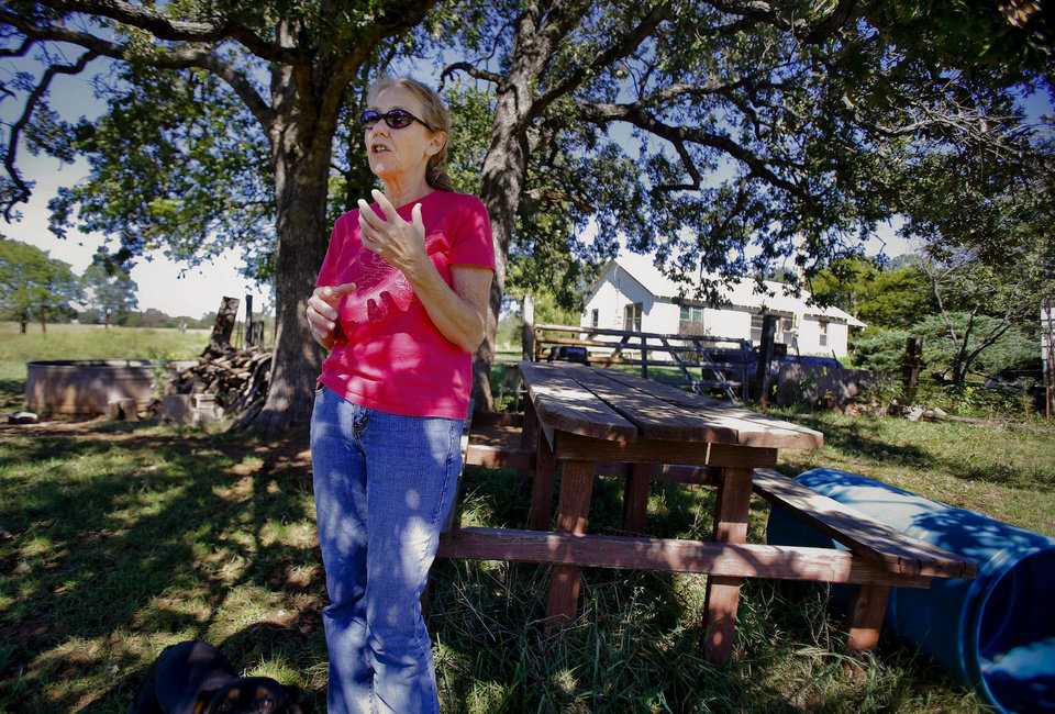 Marijuana legalization activist Norma Sapp speaks at her home Monday in Little Axe. <strong>CHRIS LANDSBERGER - CHRIS LANDSBERGER</strong>