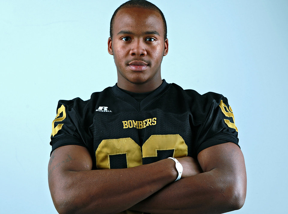 All-State Team player Trevon Lewis, of Midwest City, poses at the OPUBCO studios in Oklahoma City on Monday, Dec. 13, 2010. Photo by John Clanton, The Oklahoman