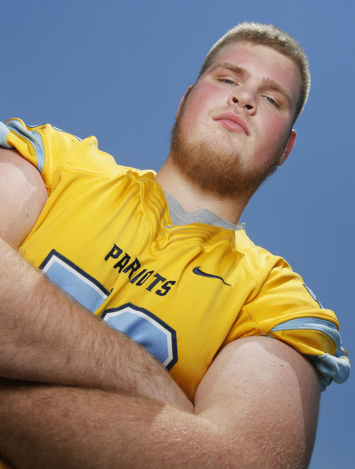 Photo -  Putnam City West offensive lineman Cooper Smith is No. 25 on The Oklahoman's Super 30 recruit rankings for the 2018 class. [PHOTO BY NATE BILLINGS, THE OKLAHOMAN]