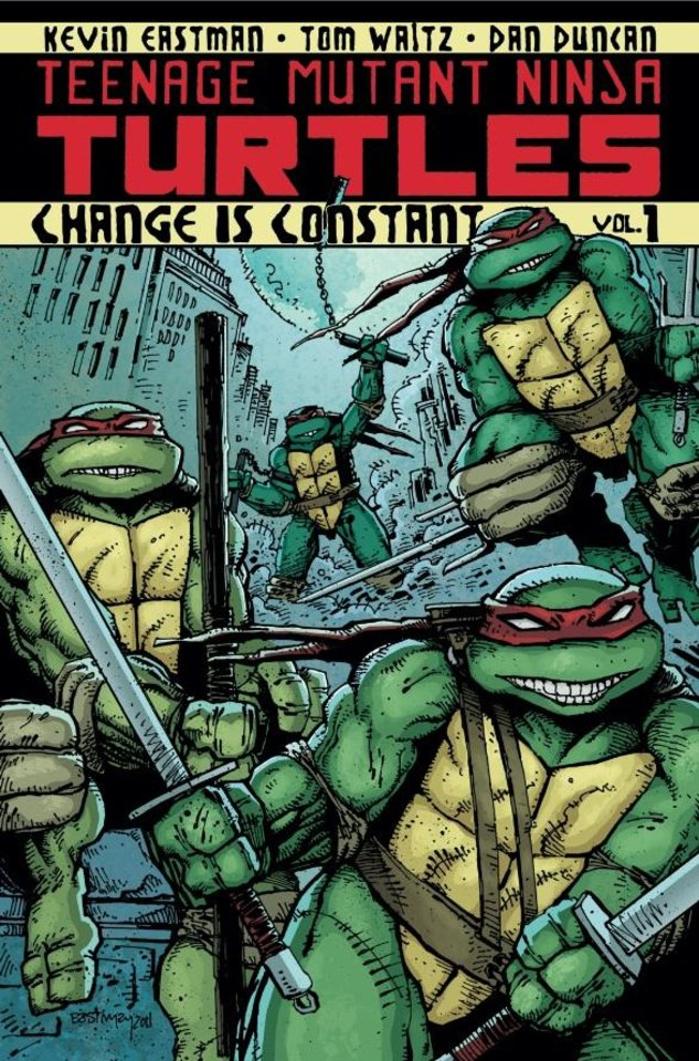 """Photo - The cover to IDW's """"Teenage Mutant Ninja  Turtles"""" Volume 1, """"Change is Constant."""""""