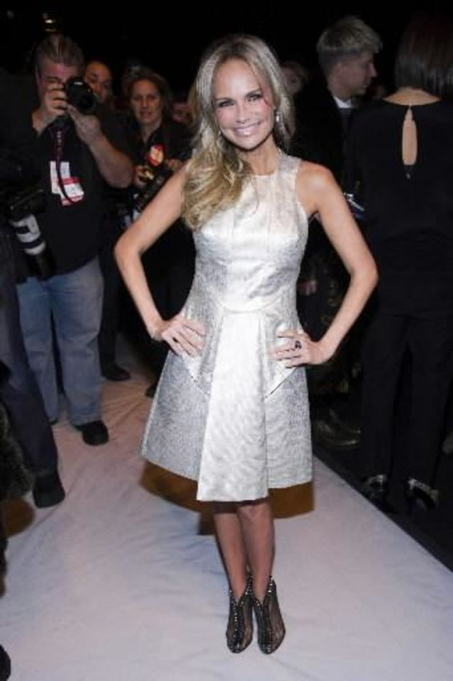 Broken Arrow native Kristin Chenoweth attends the Fall 2013 Project Runway fashion show on Friday, Feb. 8, 2013 in New York. (AP)