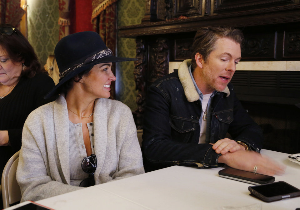 Photo -  Actors Joe Don Rooney and his wife, Tiffany Fallon, talk about