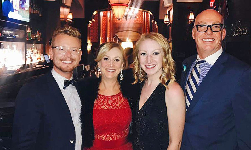 Photo - Kindt Myers, Amanda Bleakley, Paige Powell, Lance McDaniel. PHOTO BY KENDALL BLEAKLEY
