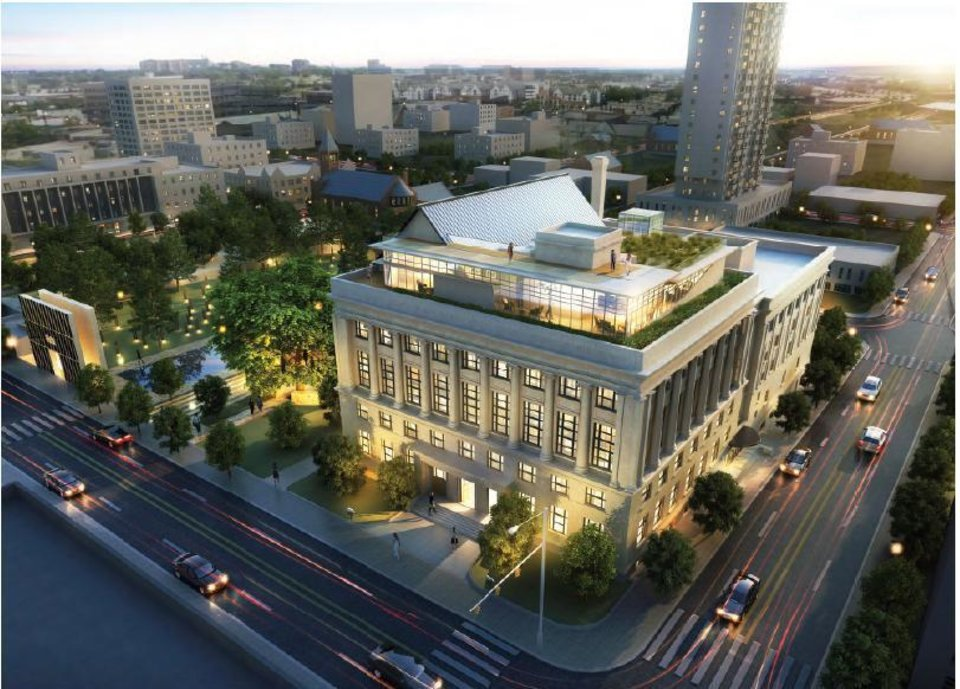 RENDERING / RENOVATE / RENOVATION: The Journal Record Building in downtown Oklahoma City will be renovated into office space with a new glass-encased fifth floor as shown in this rendering. PROVIDED
