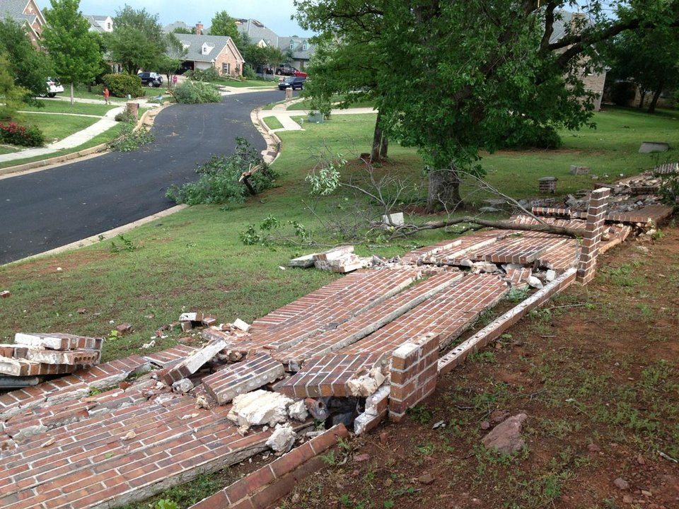 Photo - Storm damage near Locust Lane and Bryant.