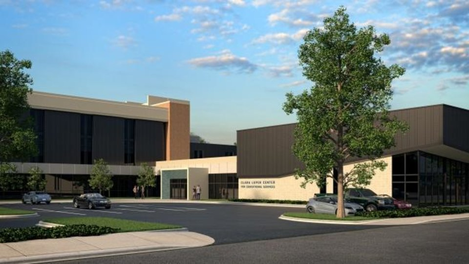 Photo -  The Clara Luper Center will include an addition that adds meeting and community space to the future Oklahoma City Public Schools headquarters at 615 N Classen. [Provided}