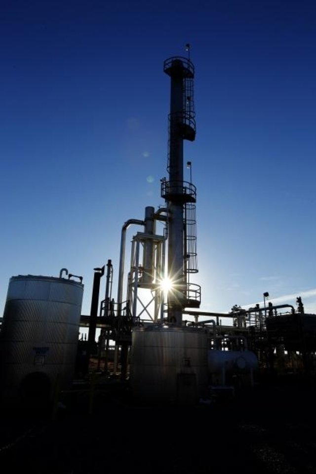 Photo -  Enable Midstream Partners South Canadian Gas Plant facility is shown in Calumet.