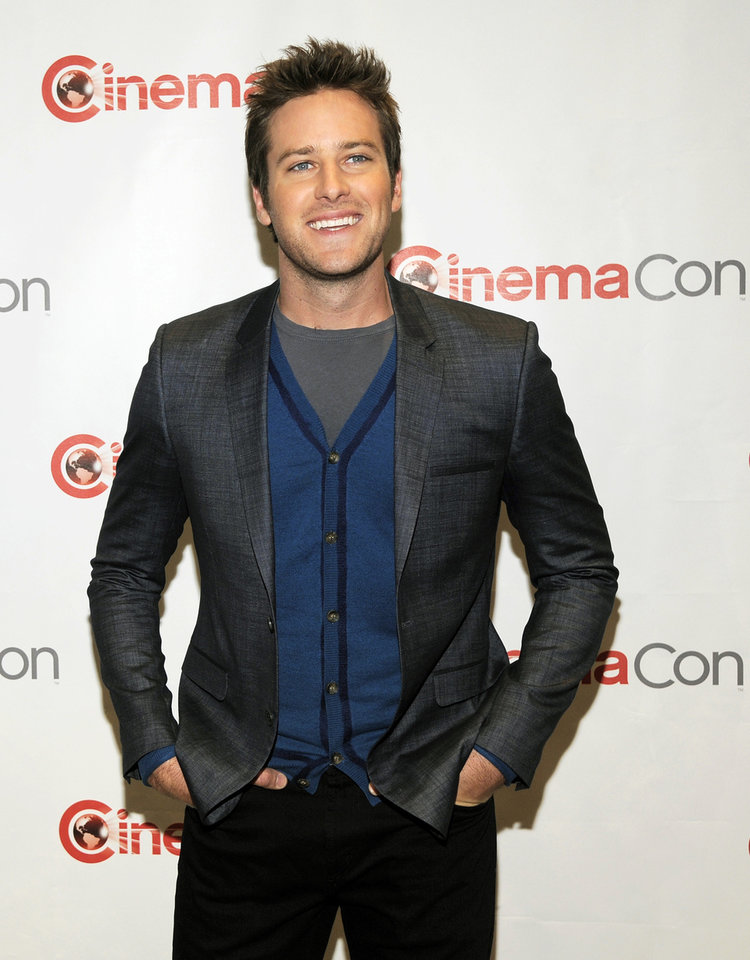 Armie Hammer, who stars in the title role in the upcoming film