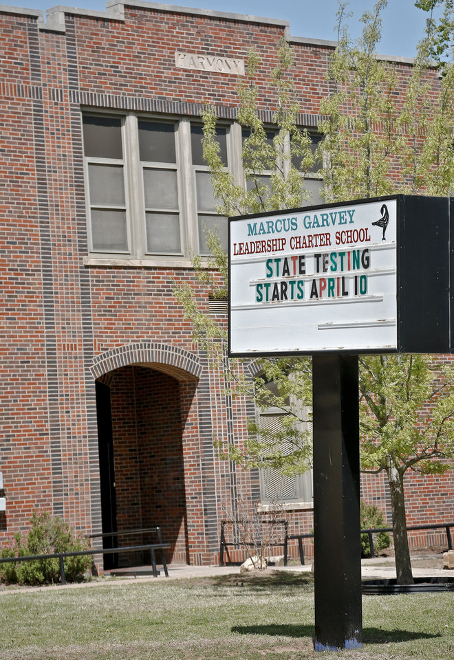 Photo - Marcus Garvey Leadership Charter School on Monday, April 15, 2013, in Oklahoma City, Okla.  Oklahoma City Public Schools has put the school on notice that it will lose its charter after receiving poor marks from the state Education Department this year. Photo by Chris Landsberger, The Oklahoman