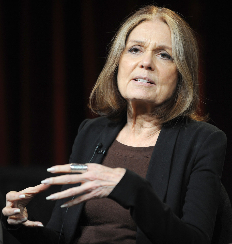 "FILE - In this Jan. 15, 2011 photo, Gloria Steinem attends the PBS Winter TCA Tour at the Langham Huntington Hotel  in Pasadena, Calif. ""Makers: Women Who Make America,"" a three-hour PBS documentary about the fight for women's equality, airs Tuesday and features prominent activists including Gloria Steinem and Marlo Thomas. (Photo by Richard Shotwell/Invision/AP, File)"