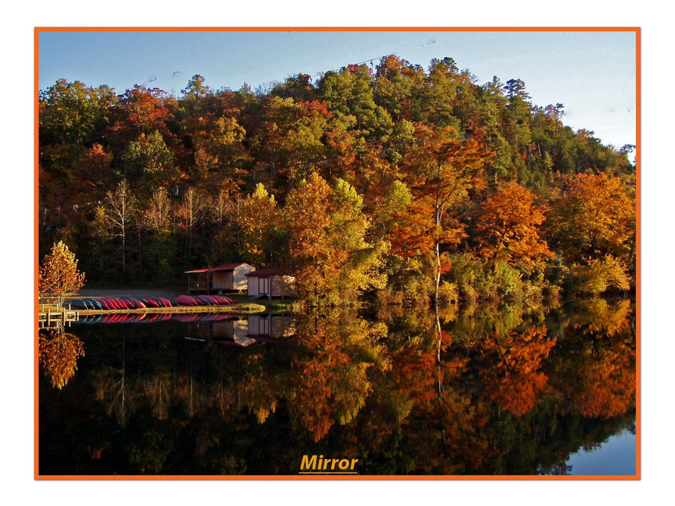 Beavers Bend SP. Fall colors, what a treat! Photo by Dick Gallemore