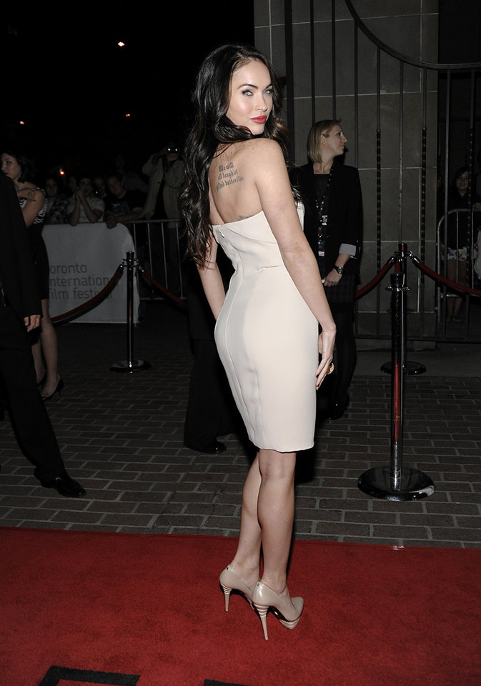 """Photo -  Actress Megan Fox arrives at the TIFF premiere of the feature film """"Passion Play"""" in Toronto on Friday, Sept. 10, 2010. (AP Photo/Dan Steinberg)"""