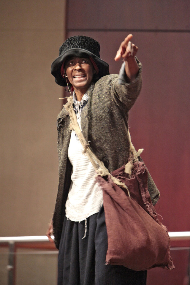 Above: Daisy Century portrays Harriet Tubman.