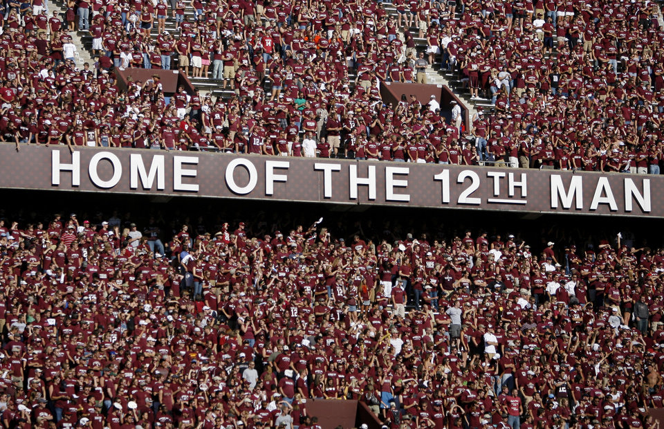 Photo - Texas A&M fans during the college football game between the University of Oklahoma and Texas A&M University at Kyle Field in College Station, Texas, Saturday, November 8, 2008.  BY BRYAN TERRY, THE OKLAHOMAN