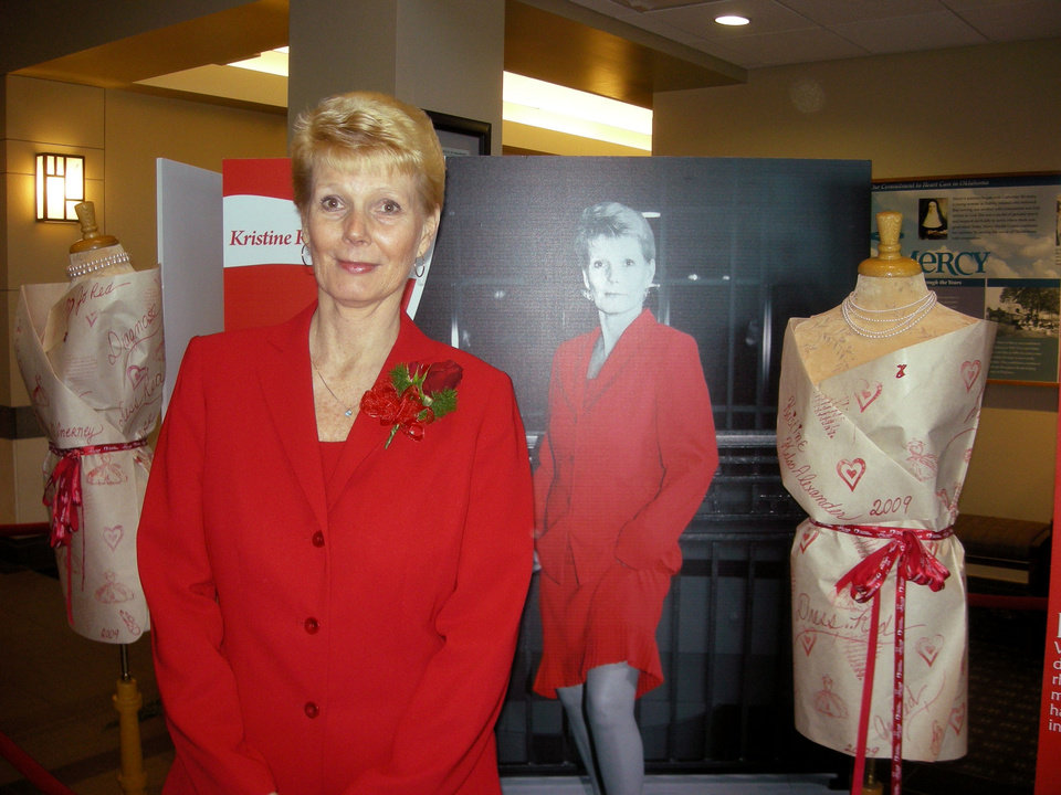 Photo - Heart patient Kristine Kelso Alexander advocated heart health awareness for women at a Go Red event earlier this year at the Oklahoma Heart Hospital. (Photo provided)