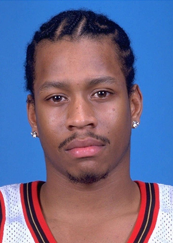 Photo - FILE --  Philadelphia 76ers basketball point guard Allen Iverson, shown in this 1998-99 season photo, broke the thumb on his shooting hand in a loss to the San Antonio Spurs Monday night Nov. 22, 1999 and will be out 3-6 weeks. (AP Photo/File)