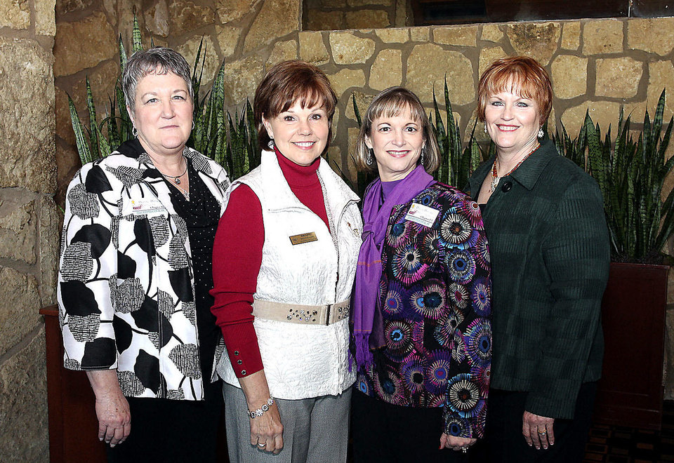 Photo - PEO officers Denise Bailey, Pam Guffey, Paula Dunlap, Peggy Alverson.  PHOTOS BY DAVID FAYTINGER, FOR THE OKLAHOMAN