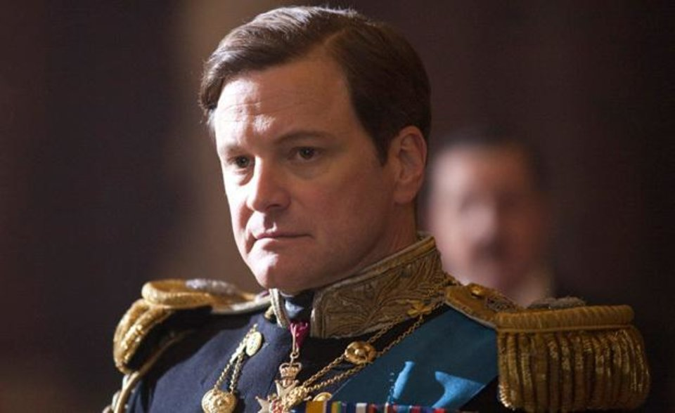 In this film publicity image released by The Weinstein Company, Colin Firth portrays King George VI in