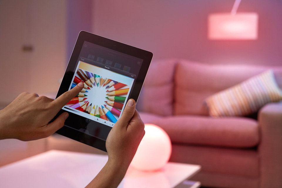 Photo - The Philips Hue smart lightbulb can be controlled by smartphones and tablets. Photo provided.
