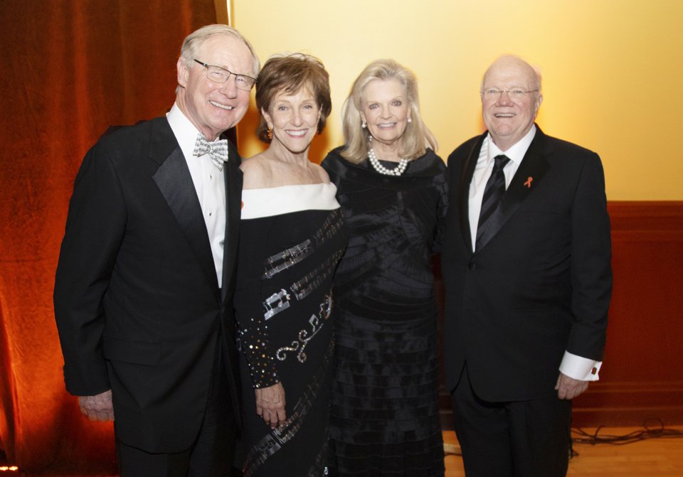 Photo - Burns and Ann Hargis, Billie and Ross McKnight. LAUREN KNORI, OSU FOUNDATION PHOTO