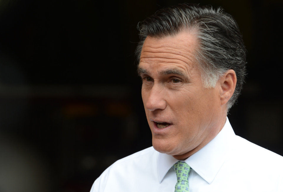 Photo -   FILE - In this May 1, 2012 file photo, Republican presidential candidate, former Massachusetts Gov. Mitt Romney speaks in New York. Romney says he wanted an openly gay spokesman who resigned from the campaign to stay on. (AP Photo/Henny Ray Abrams, File)