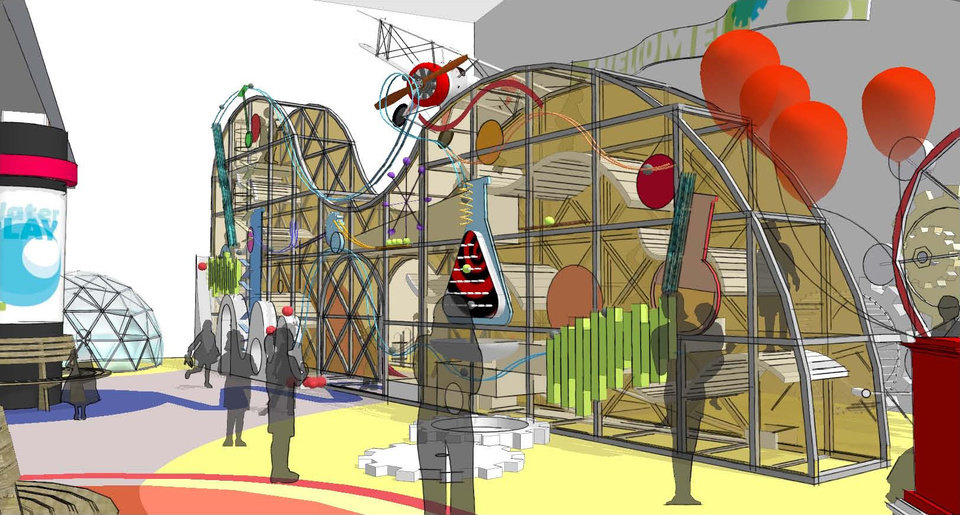Photo - Plans for a children's hall at Science Museum Oklahoma include a climbing structure. Image provided