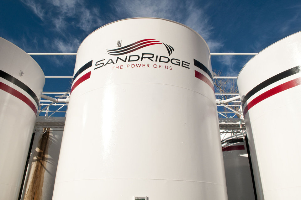 Photo - A SandRidge Energy Inc. oil tank battery located near Alva is pictured.   - provided