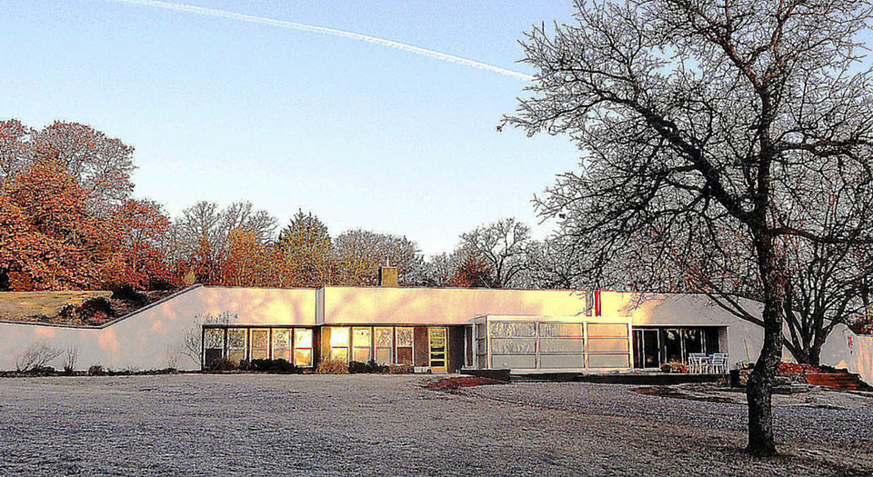 Photo - Underground Loft, 3200 Sexton Drive in Norman, is one of seven stops on the 12th annual Architecture Tour from 10 a.m. to 4 p.m. April 13. Architects Mike and Mary Price own the home of reinforced concrete with 14 inches of soil and sod on its roof.