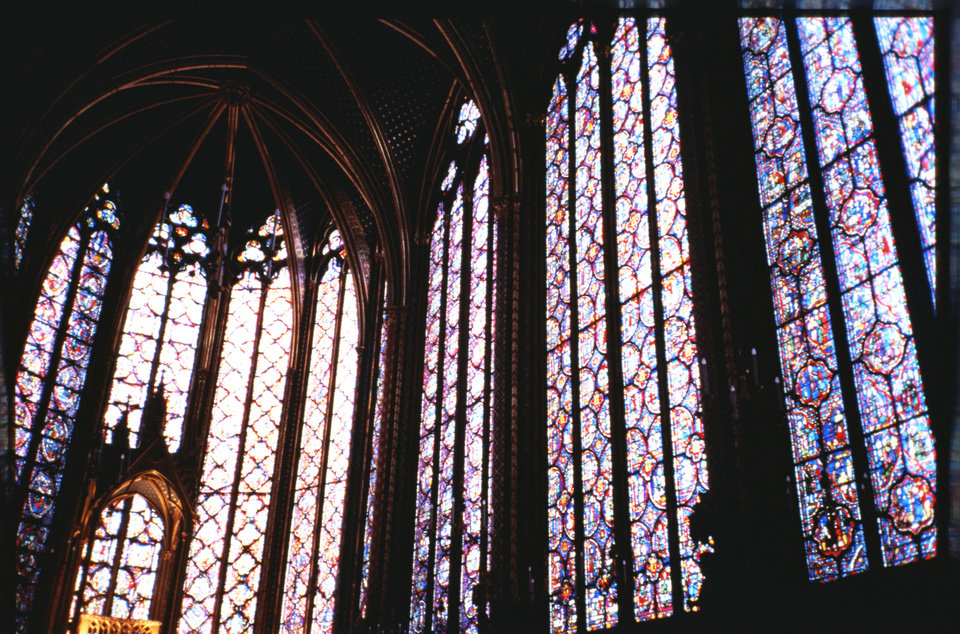 Photo -  Paris, France - Stained Glass from Inside