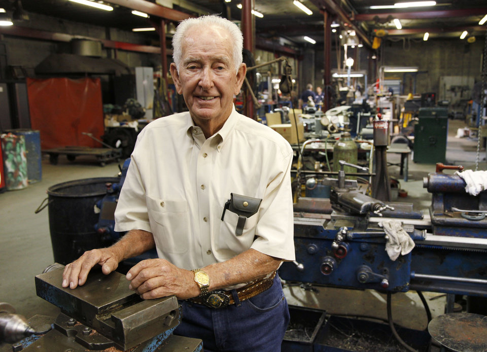 Photo -  Capitol Electric Motor Repair owner Roland Harrison will celebrate 50 years at his business in southwest Oklahoma City. Photo by Paul Hellstern, The Oklahoman   PAUL HELLSTERN -  Oklahoman