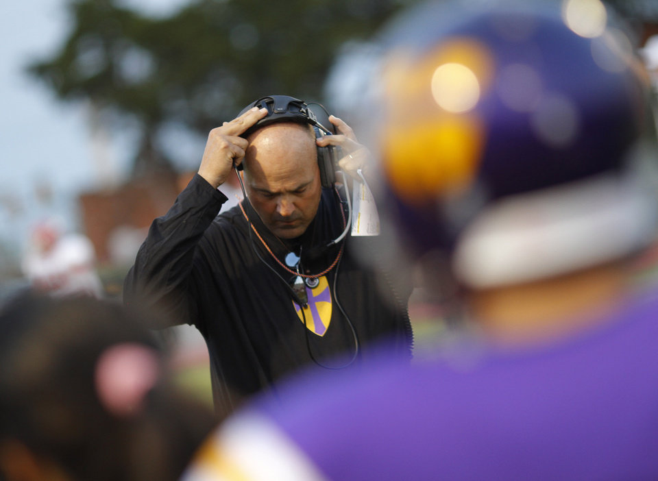 NWC Coach Smith at the Northwest Classen vs. Western Heights high school football game at Taft Stadium Thursday, September 20, 2012. Photo by Doug Hoke, The Oklahoman