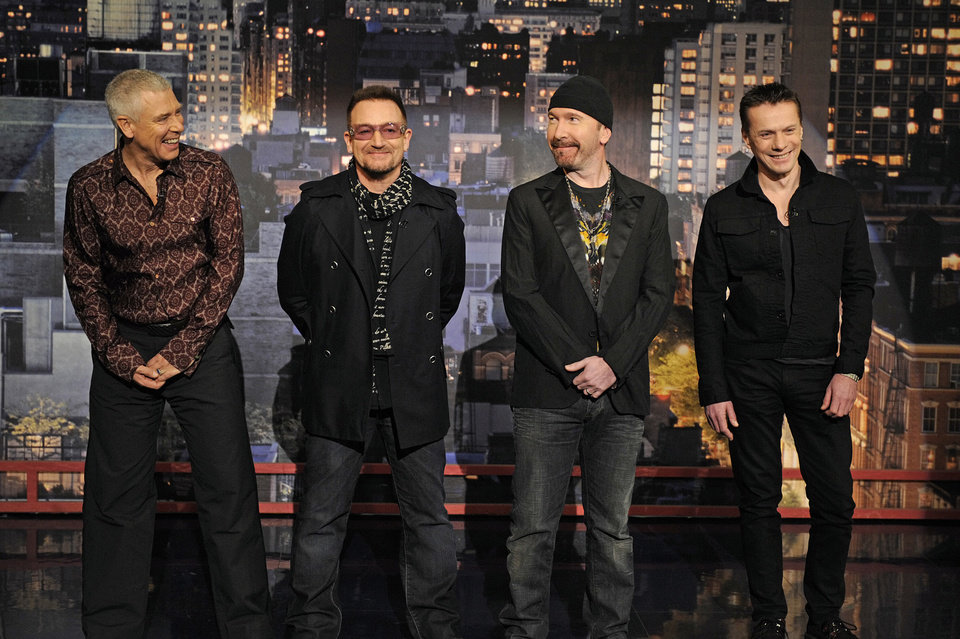 Photo - In this photo released by CBS, members of the band