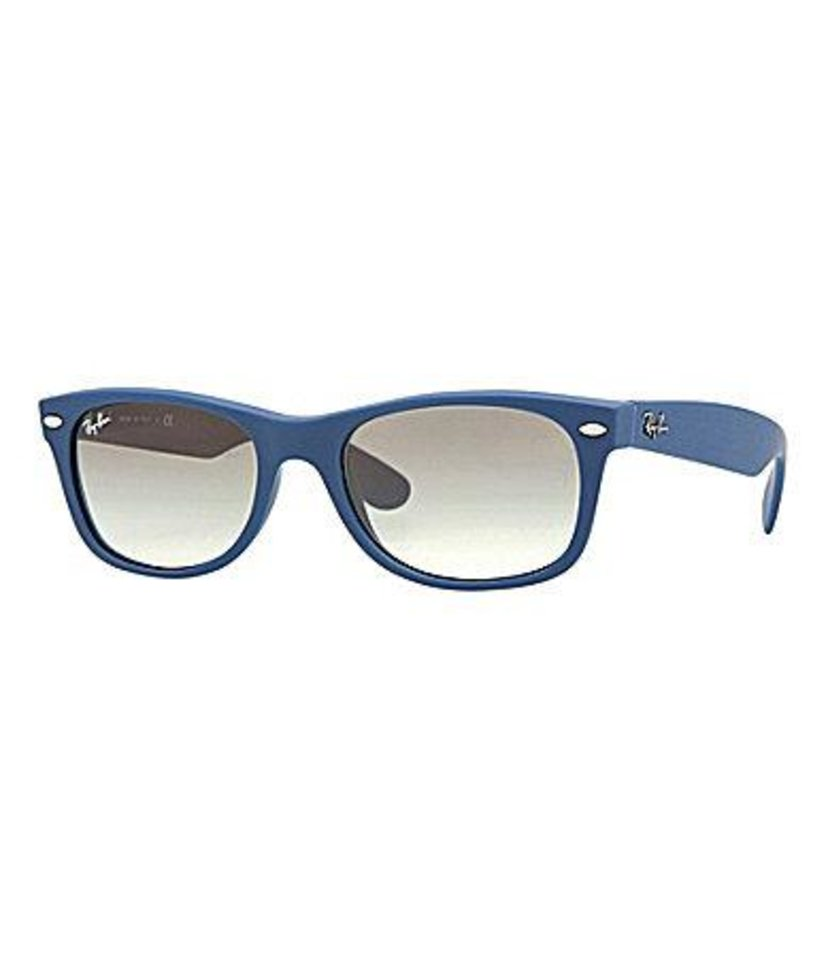 Ray-Ban Wayfarer in blue, $130, at Dillard\'s.