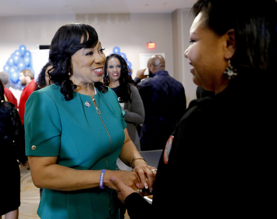 Photo - Former state Sen. Anastasia Pittman, pictured here in November, is among 14 former candidates for public office being sued by the Oklahoma Ethics Commission. [The Oklahoman archives]