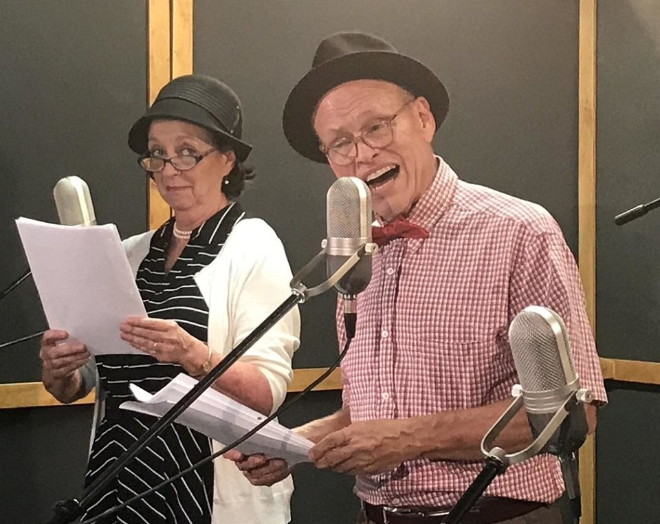 Photo - Mike Waugh and Lilli Bassett star in a Carpenter Square Theatre radio show-style live-stream production. [Photo provided]