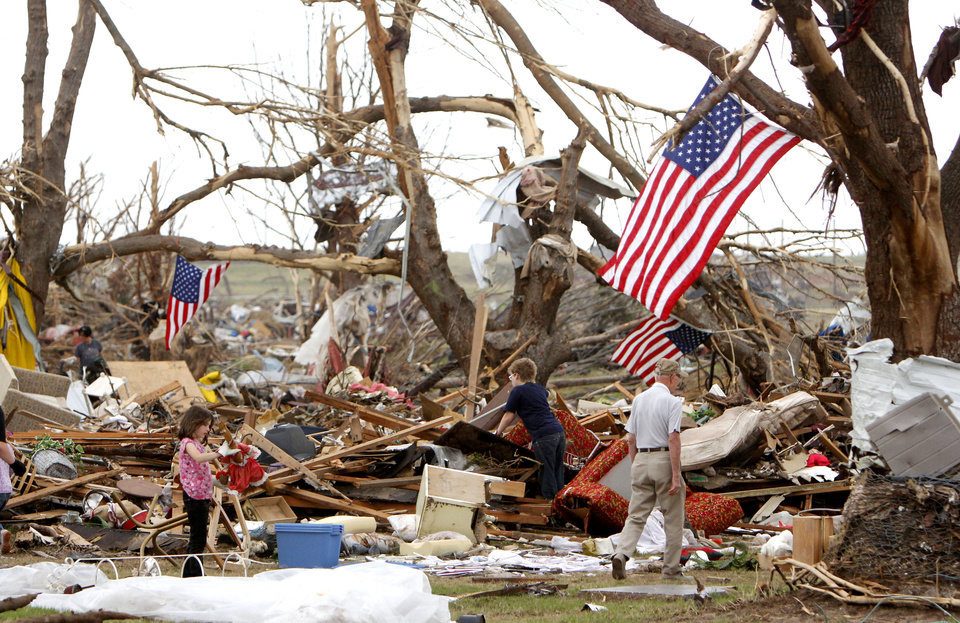 Residents search for belongings in the remains of a home destroyed by the May 20th tornado south of SW 149th and May Ave. in Moore, OK, Saturday, May 25, 2013,  Photo by Paul Hellstern, The Oklahoman