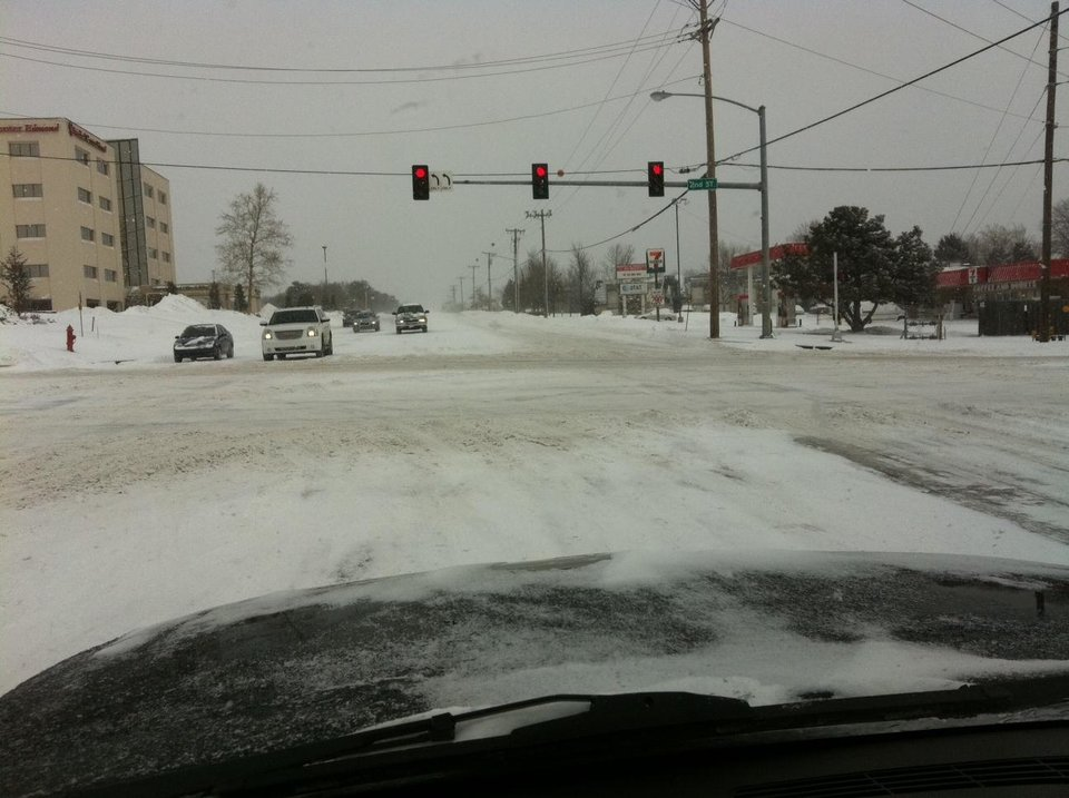 Photo - EDMOND -- Edmond roads at Second Street and Bryant Avenue. PHOTO PROVIDED, EDMOND POLICE DEPARTMENT