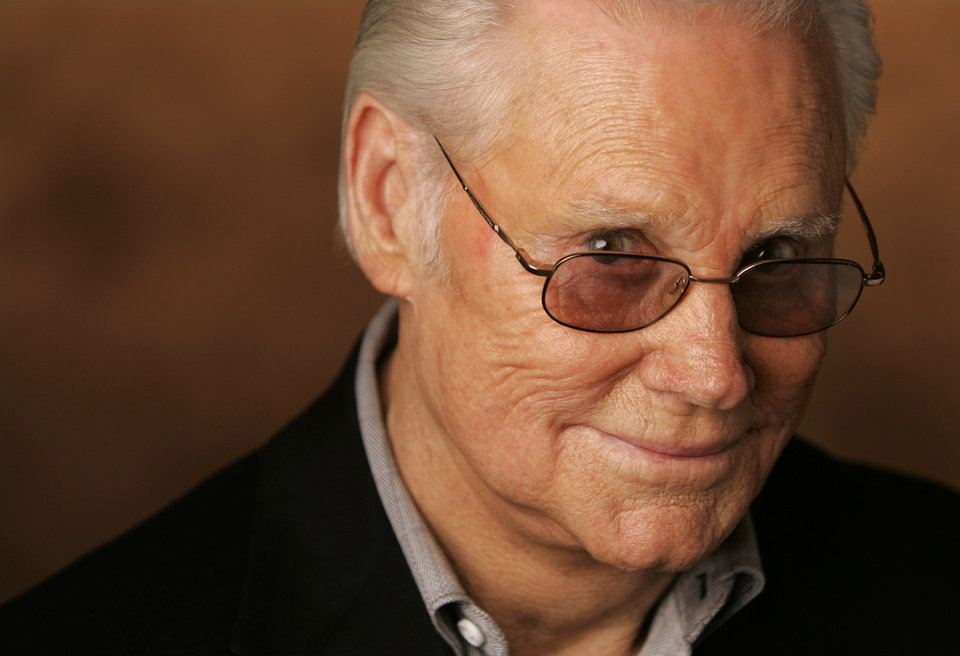 FILE - In this Jan. 10, 2007 file photo, George Jones is shown in Nashville, Tenn. Jones, the peerless, hard-living country singer who recorded dozens of hits about good times and regrets and peaked with the heartbreaking classic