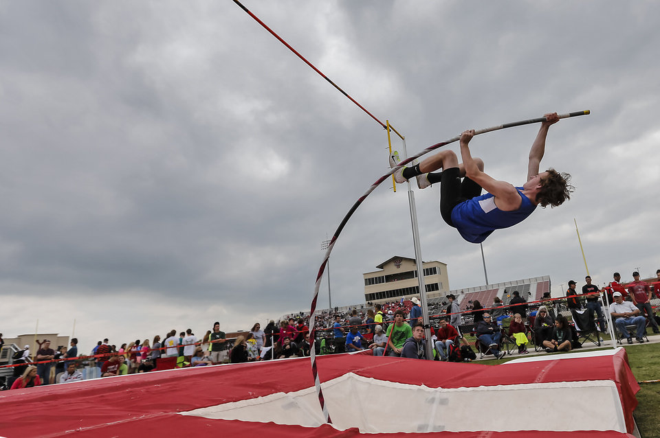 during the class 5A and 6A track state championships at Yukon High School on on Friday, May 10, 2013, in Yukon, Okla.Photo by Chris Landsberger, The Oklahoman
