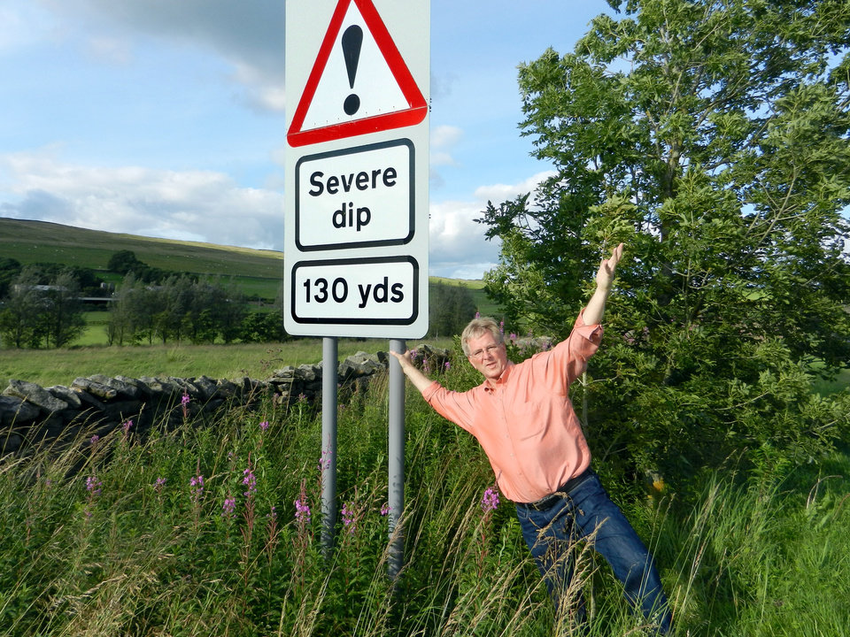 The Brits have a way with words — but don't take their traffic signs personally. (Photo by Rick Steves)