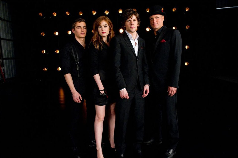 From left, Dave Franco, Isla Fisher, Jesse Eisenberg and Woody Harrelson star in the thriller